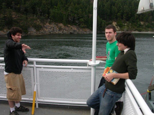Jason Kevin and Joe on the BC Ferry, July 2007. Photo by Matt LeMay
