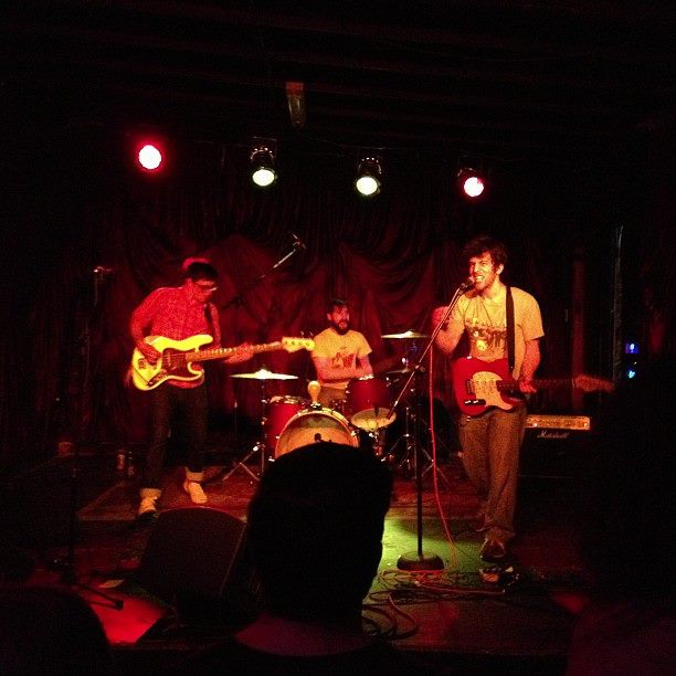 Lames open for R Stevie Moore at The End in Nashville, 2013.  L to R: Joe, Jeff, Jason. Photo by Tommy from Square People