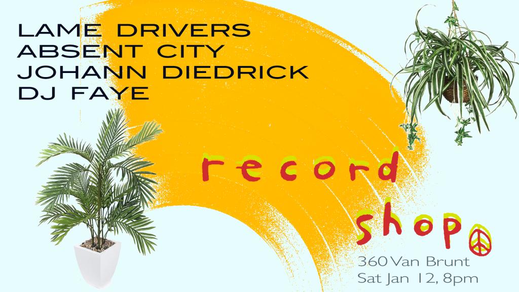lame drivers @ record shop
